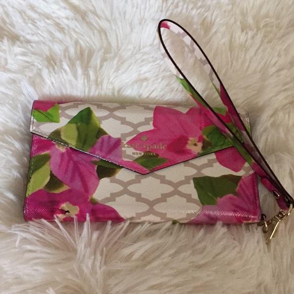 Kate spade floral iPhone wallet case